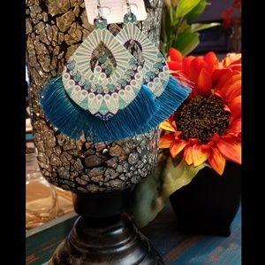 Bohemian Inspired Wooden Tassle Earrings🌻